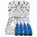 EVI Fiber Optic Distribution Box, 4 core, SC Simplex