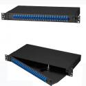 EVI Rackmount Preloaded Fiber Enclosure 1U, (24) Duplex LC Pair